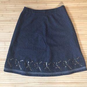 Esprit collection wool blend A line skirt